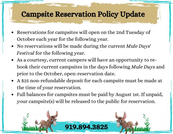 CAMPSITE RESERVATIONS (3)
